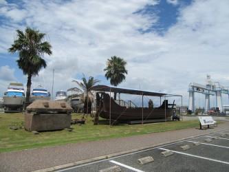 古代船「海王」 この小さな船で瀬戸内海を渡ったんですよね。すごい!