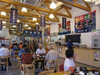 館内の食堂 漁師食堂という名前がいいですね。