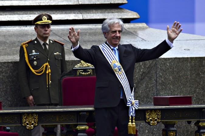 ウルグアイのタバレ・バスケス大統領(PABLO PORCIUNCULA/AFP/Getty Images)