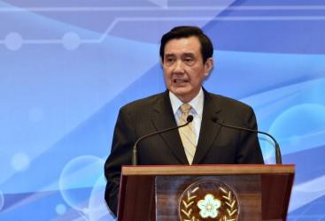 台湾の馬英九・総統。7日、1949年の分断以来初となる中台首脳会談が行われる(SAM YEH/AFP/Getty Images)