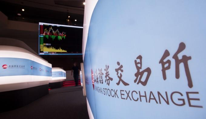 中国上海証券取引所 (JOHANNES EISELE/AFP/Getty Images)