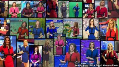 多くの女性気象予報士が同じワンピースを購入(Imgurスクリーンショット)