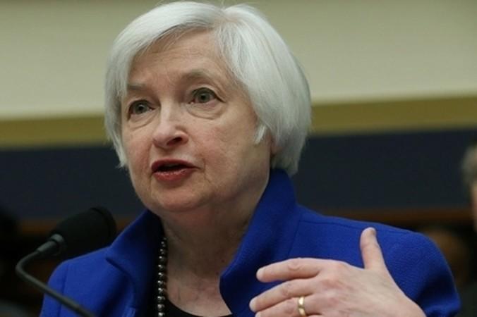 米国FRBイエレン議長は2月10日、国会証言で中国経済の不確実性に言及した (Mark Wilson/Getty Images)