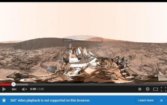 火星の360度パノラマ動画の一部 (スクリーンショット)