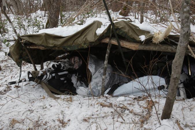 韓国軍の冬季軍事訓練 (Chung Sung-Jun/Getty Images)