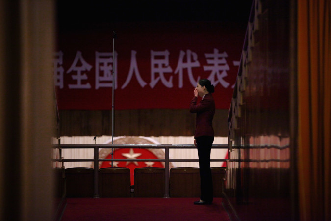 全国人民代表大会の会場 (Feng Li/Getty Images)