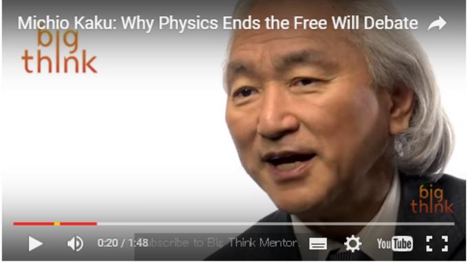 ミチオ・カク氏 (YouTubeスクリーンショット)