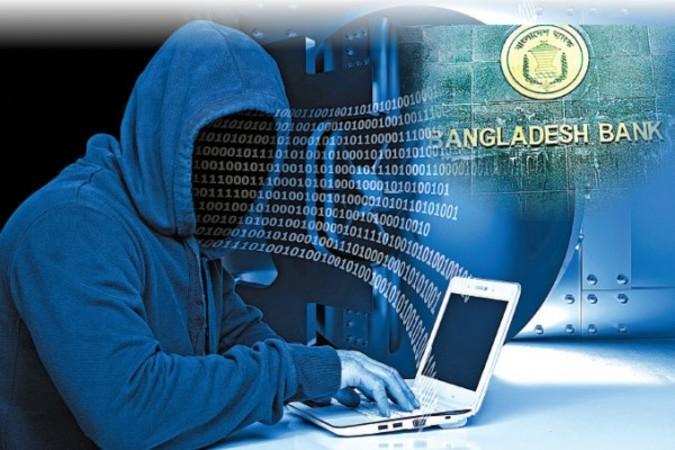 2月に起きたバングラデシュ中央銀行の巨額サイバー窃盗事件で、中国人犯行グループが関与している疑いが強まっている(大紀元作成)
