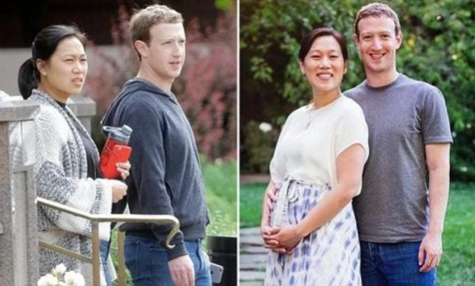 ザッカーバーグ氏と妻のプリシラさん(ネット写真)
