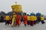 清王朝の模擬の式典 (MARK RALSTON/AFP/Getty Images)