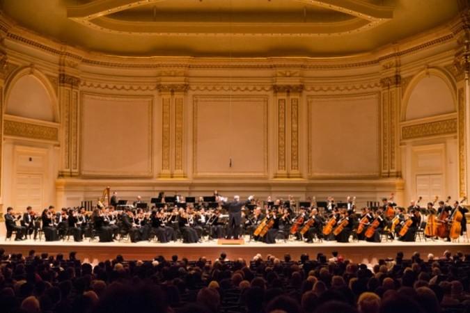 神韻交響楽団の2105年米国公演。参考写真(戴兵/大紀元)