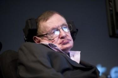 英宇宙物理学者のスティーブン・ホーキング博士。(EVERT ELZINGA/AFP/Getty Images)