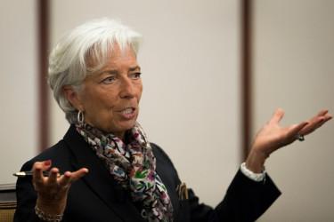 クリスティーヌ・ラガルド国際通貨基金(IMF)専務理事(Drew Angerer/Getty Images)