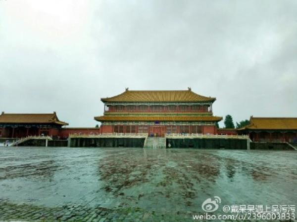 豪雨でも深刻な冠水は見られなかった故宮(ネット写真)