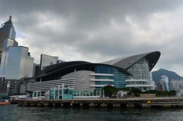 2016年の国際移植大会の会議が行われる香港会議展覧センター。中国の臓器移植制度の改革がトップの問題になると予想される(Bill Cox/大紀元)