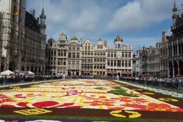 第20回ブリュッセル・フラワーカーペットフェスティバルが8月12~15日に開催された。今年は日本がテーマで、「花鳥風月」絵柄の花じゅうたんがグラン・プラス広場一面に広がった(大紀元)