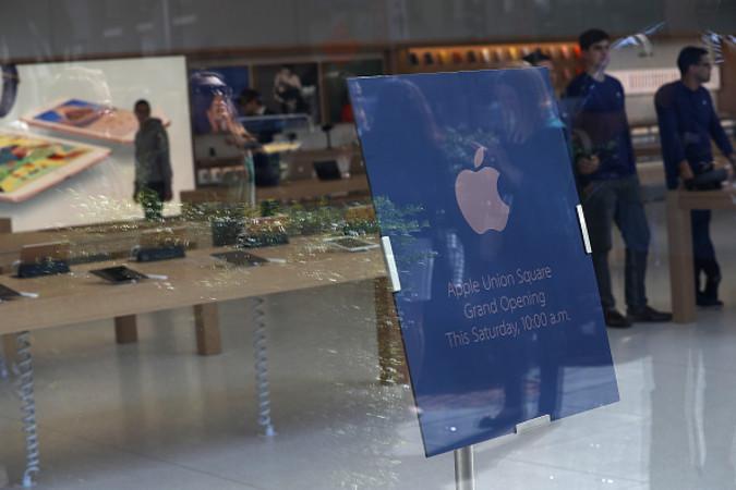 サンフランシスコのアップルの旗艦店(Justin Sullivan/Getty Images)