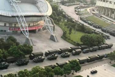 9月4~5日に中国杭州市で開催されるG20首脳会議に備えて、中国政府当局は戦車などを投入し早くも厳戒態勢に入った(ネット写真)