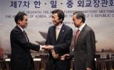 昨年3月に行われた日中韓外相会議(Getty Images)