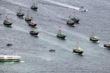 中国国営メディアの報道によると、乱獲と環境汚染で中国の漁業資源が枯渇の危機に陥っている(LAURENT FIEVET/AFP/Getty Images)