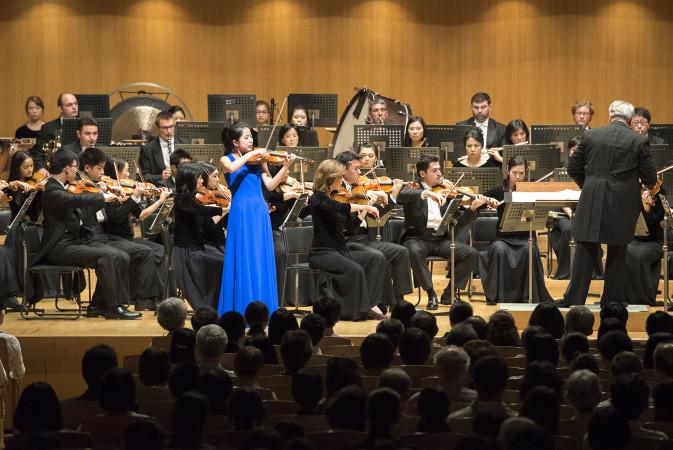 東京オペラシティ(新宿区)で15日、神韻交響楽団の初めての日本公演が開催された。(野上浩史/大紀元)
