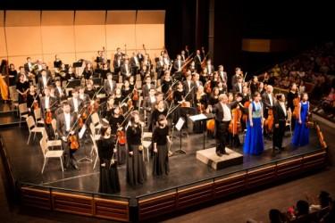 9月22日、神韻交響楽団は台湾宜蘭市で公演。(曾漢東/大紀元)