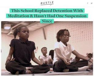 米メリーランド州ロバートW.コルマン小学校では、体罰を瞑想に変えたら、良い効果が現れた(ツイッターよりスクリーンショット)