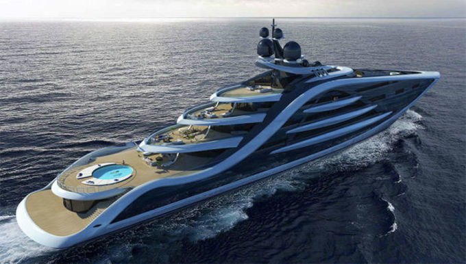 このたび、船のデザイナー、アンディ・ワーさんがデザインした豪華客船の画像が公開された(AndyWaugh.co.uk)