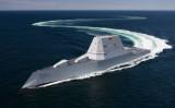 航行訓練中の最新鋭駆逐艦「ズムウォルト」(米軍Twitterより)