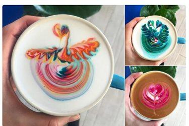 オーストラリア「ピッグ・バック・カフェ」のコーヒー(ツイッターよりスクリーンショット)