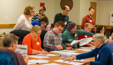 再集計したらトランプ氏の票が増えていた。(Andy Manis/Getty Images)