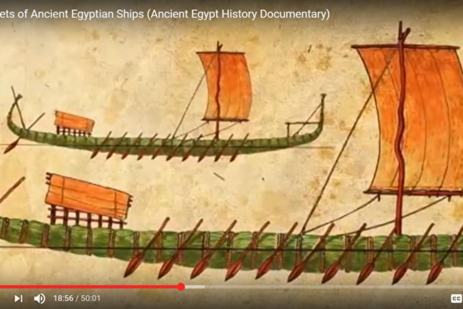 古代エジプト人の造船に関する構想図(LiveScienceサイトのスクリーンショット)