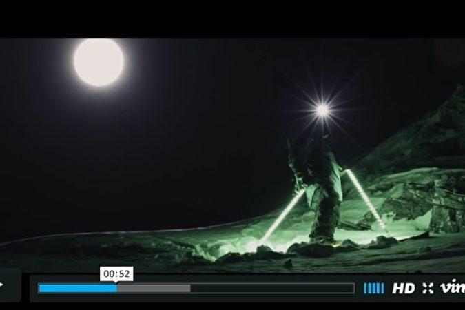 動画「ムーン・ライン」で素晴らしいテクニックを披露したマシュー・ビジャッソン氏(スクリーンショット)