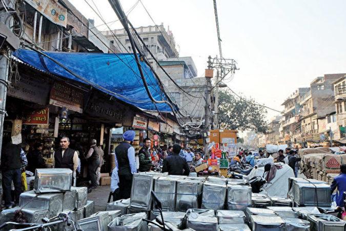 インドのチャンドニーチョーク市場(中央社)