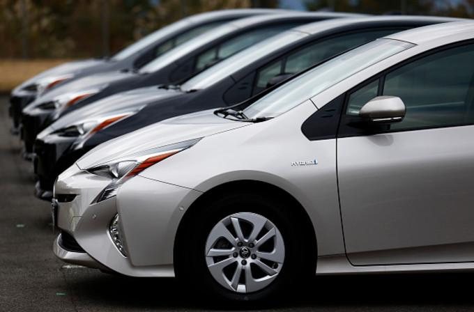 最も安全性に優れた車種であることを示す「トップセーフティピック+(TSP+)」に選ばれたのは38種類の車種が選ばれ、日本車が全体の6割を占めた(Tomohiro Ohsumi/Getty Images)