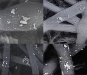 北京のスモッグを電子顕微鏡で2000倍に拡大すると(北京化工大学)