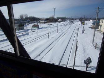 北海道の釧路本線から見える知床斜里駅。参考写真(flickr)