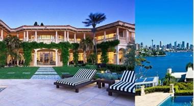 シドニーの高級住宅地ポイントパイパー(point piper)にある許家印氏(59)の4000万豪ドル(約35億円)の豪邸(スクリーンショット)