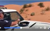 警察署のFacebookにアップされた動画は、320万回以上再生された(Facebookのスクリーンショット)
