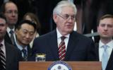 演説するレックス・ティラーソン国務長官(Mark Wilson/Getty Images)