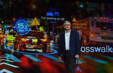 米ラスベガスで2017年に開催された、世界最大規模の一般消費者向けIT技術の見本市「CES2017」に姿を見せた、米ハイテク技術企業QualcommのCEO Steve Mollenkopf氏(GettyImages)