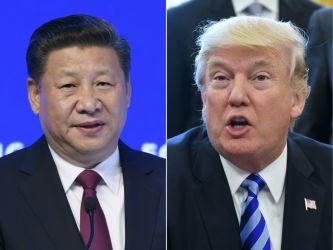 中国国家主席・習近平氏(左)と米大統領ドナルド・トランプ氏(右)(FABRICE COFFRINI,MANDEL NGAN/AFP/Getty Images)