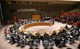 米ニューヨークの国連本部では12日、シリア情勢について安保理会議が開かれた(Spencer Platt/Getty Images)