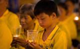 台湾台北市の法輪功学習者たち。2016年、弾圧による法輪功学習者の犠牲者を弔う式典で(明慧ネット)