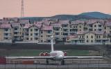 北朝鮮国営の高麗航空の飛行機、平壌空港で4月17日撮影(ED JONES/AFP/Getty Images)