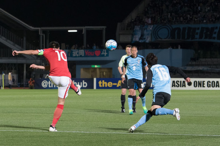 川崎は、広州の「試合の後半で力が弱くなる」という弱点をしっかり把握していた(大紀元/野上)