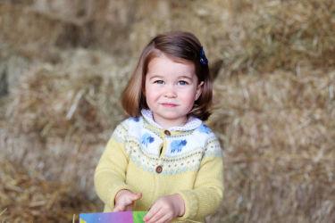 2歳を迎えるシャーロット王女。ウィリアム王子とキャサリン妃の長女で第2子。(HRH The Duchess of Cambridge/Getty Images)