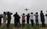 5月5日、処女飛行を成功させたC919だが、前回の飛行では失敗している(GREG BAKER/AFP/Getty Images)