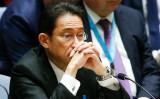 岸田外相、米ティラーソン国務長官と電話会談。4月、ニューヨークでの国連安全保障理事会に出席し北朝鮮をめぐる協議に参加する岸田文雄外相(Eduardo Munoz Alvarez/Getty Images)