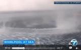 ギリシャ・コルフ島(Corfu island)に現れた不思議な光景(スクリーンショット)